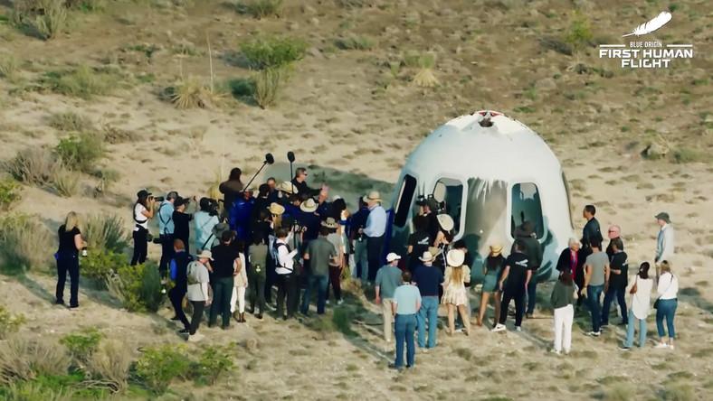 Blue Origin po wylądowaniu