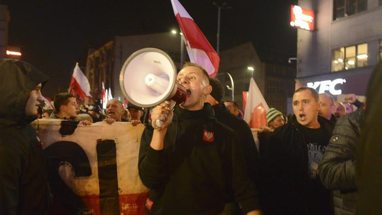 Jacek Międlar na Marszu Polski Niepodległej