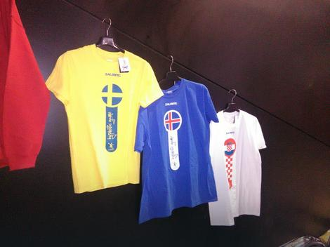 Island, Švedska i Hrvatska: Majice u prodaji, srpske nema