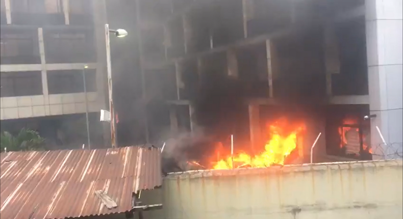 NPA confirms fire outbreak at its headquarters in Lagos/Illustration. [Twitter/@McDonSecure]