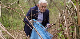 Jerzy Buzek w krzakach! Co tam robił?