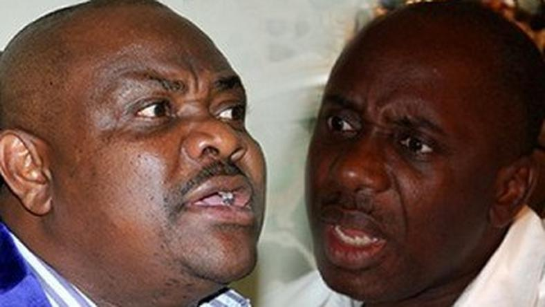 Former Rivers State Governor, Rotimi Amaechi and incumbent, Nyesom Wike