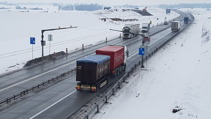 Odcinkowy pomiar prędkości na autostradzie A1