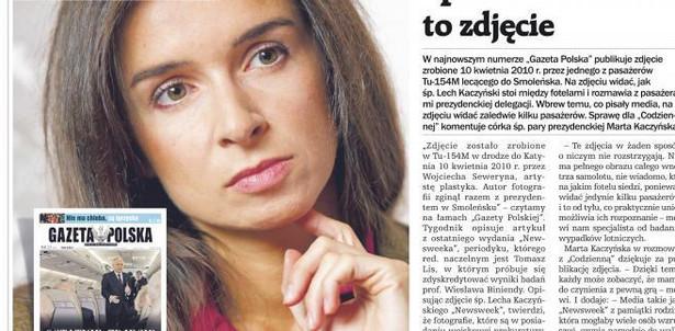 Okładka Gazety Polskiej Codziennie