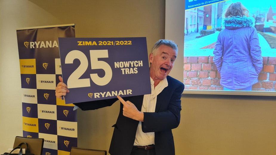 Michael O'Leary w Warszawie