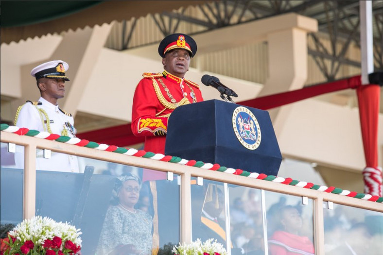 President Uhuru Kenyatta during the 2018 Jamhuri Day celebrations
