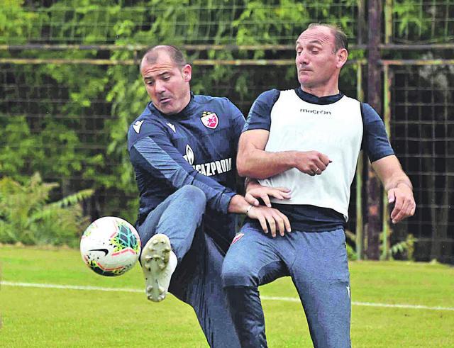 Dejan Stanković na treningu Crvene zvezde
