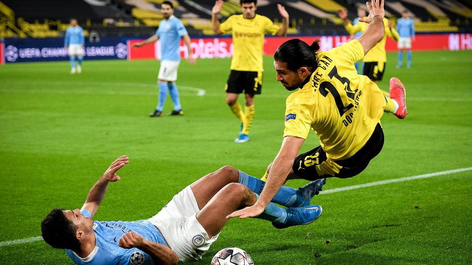 Emre Can w meczu z Manchesterem City