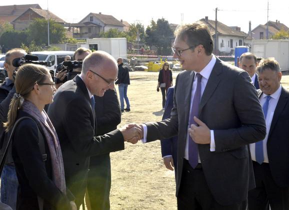 Aleksandar Vučić i Tomas Šib
