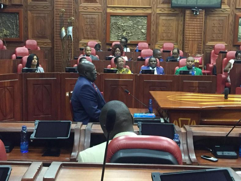Prof George Magoha during his vetting