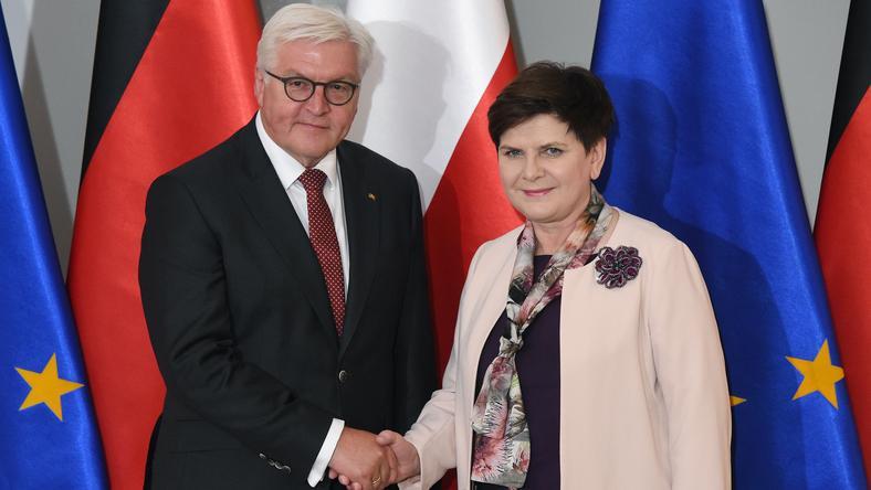 Prezydent Niemiec Walter Steinmeier i premier Beata Szydło