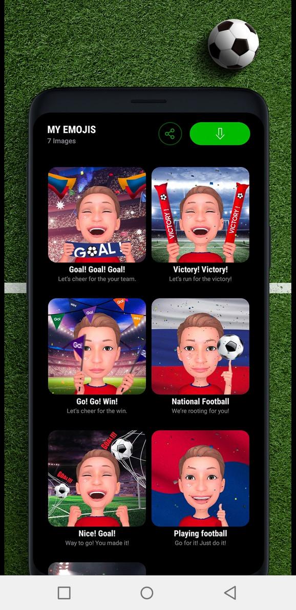 Emoji u znaku fudbala