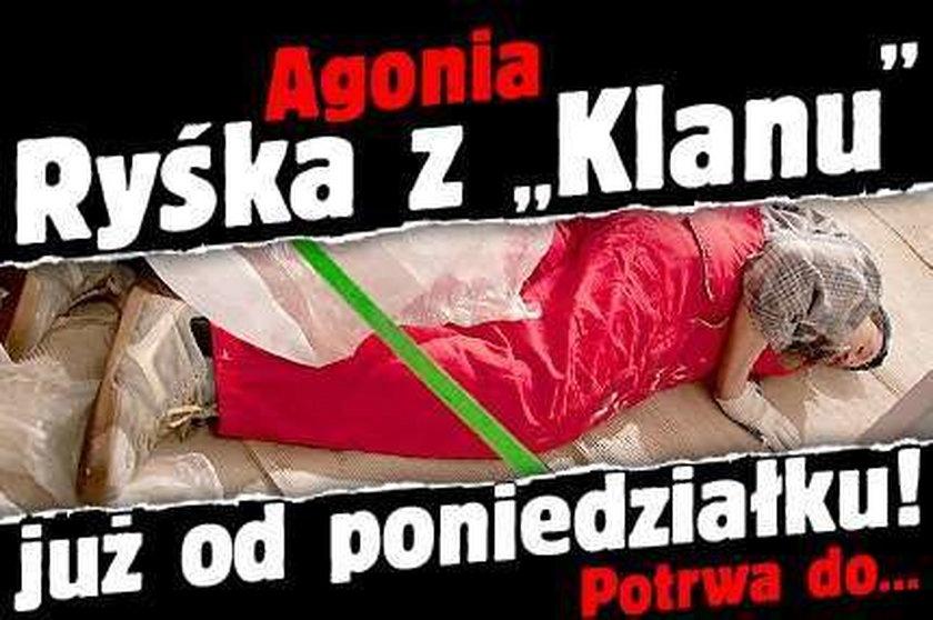 """Agonia Ryśka z """"Klanu"""" już od poniedziałku! Potrwa do..."""