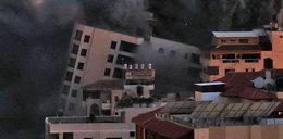 Po ataku Izraela runął biurowiec w Gazie. W odwecie Hamas wystrzelił rakiety