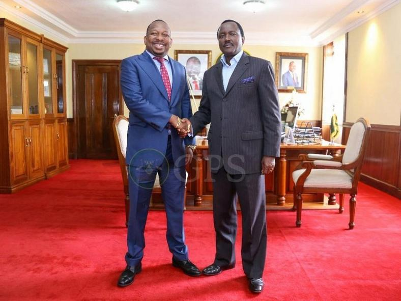Nairobi Governor Mike Sonko with Wiper party leader Kalonzo Musyoka