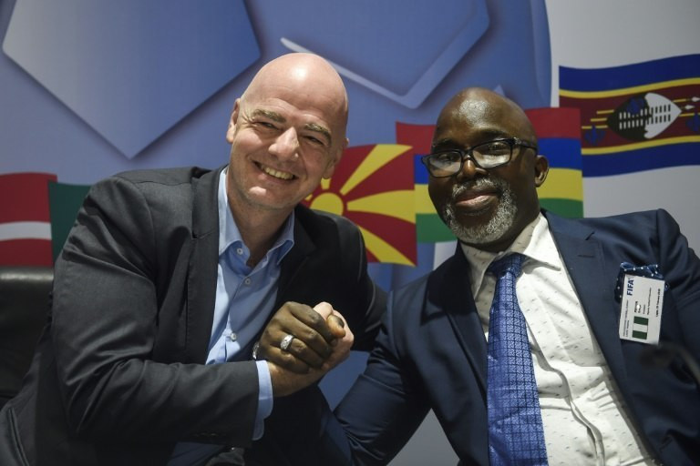 NFF boss Amaju Pinnick also enjoys the backing of FIFA President Gianni Infantino.