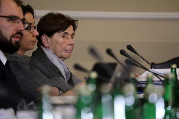 Zofia Romaszewska podczas posiedzenia komisji sprawiedliwości
