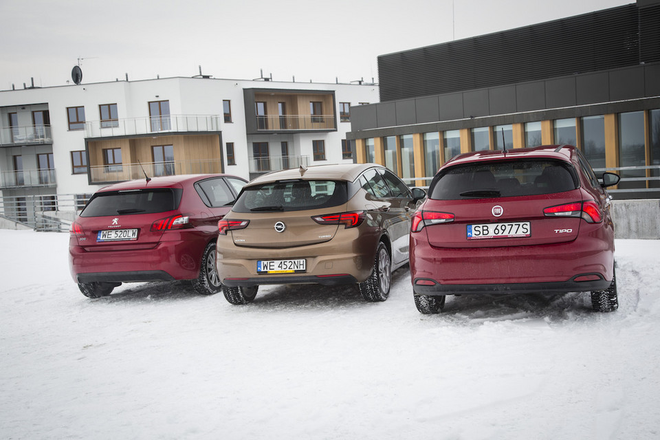 Fiat Tipo kontra Opel Astra i Peugeot 308