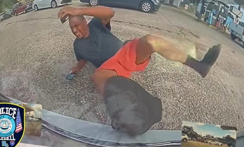 Mężczyzna z Luizjany próbował wyłudzić odszkodowanie rzucając się pod cofającą teslę.
