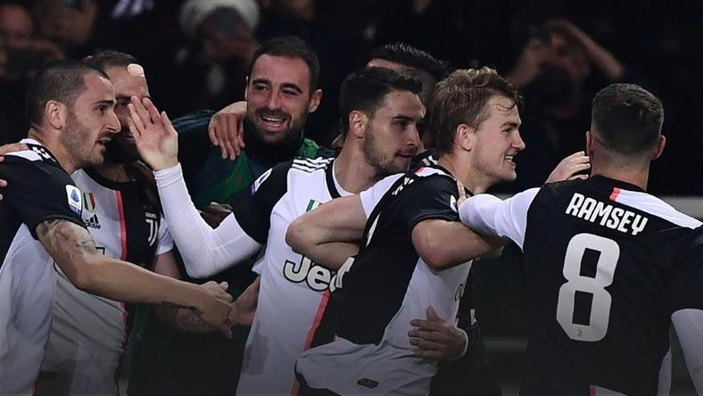 Matthijs de Ligt's first goal as a Juve player put his team top of Serie A