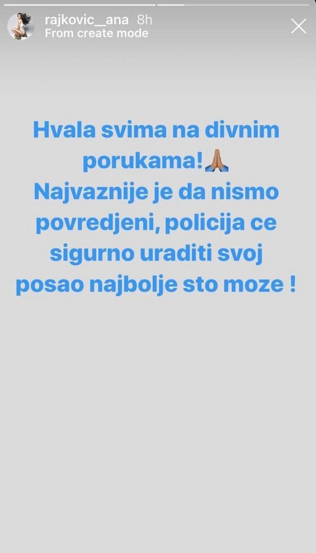Objava Ane Rajković