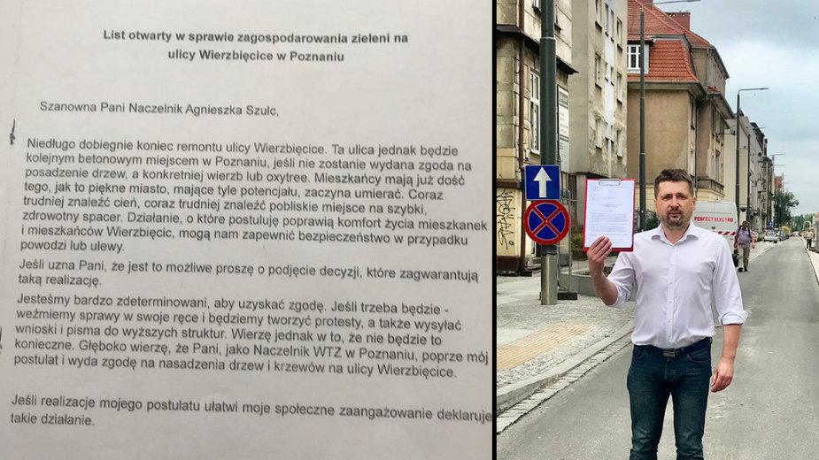 Poznań. Mieszkańcy remontowanej ulicy walczą o jej zazielenienie