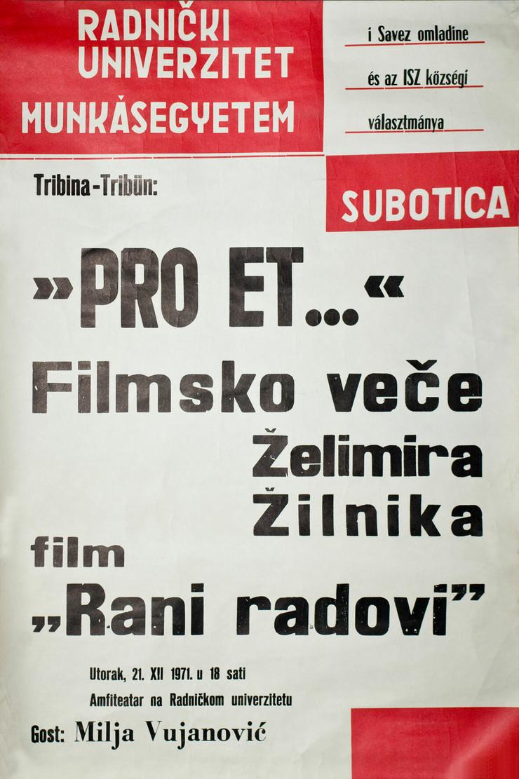 Plakat-RANI-RADOVI-u-Subotici-1971