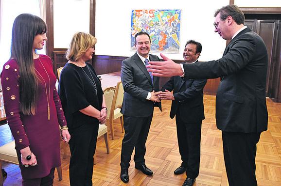 Vučić i Dačić s predsednikom Palaua