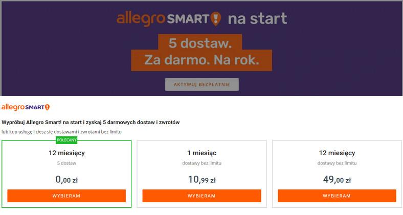 Allegro Smart W Nowym Wydaniu Piec Darmowych Dostaw Dla Kazdego Uzytkownika Oto Warunki