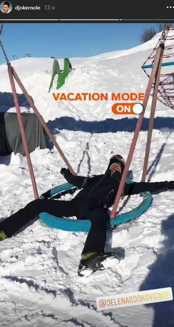 Novak Đoković je sa suprugom Jelenom, sinom Stefanom i ćerkom Tarom uživao u odmoru u italijanskom ski-centru Val Gardena