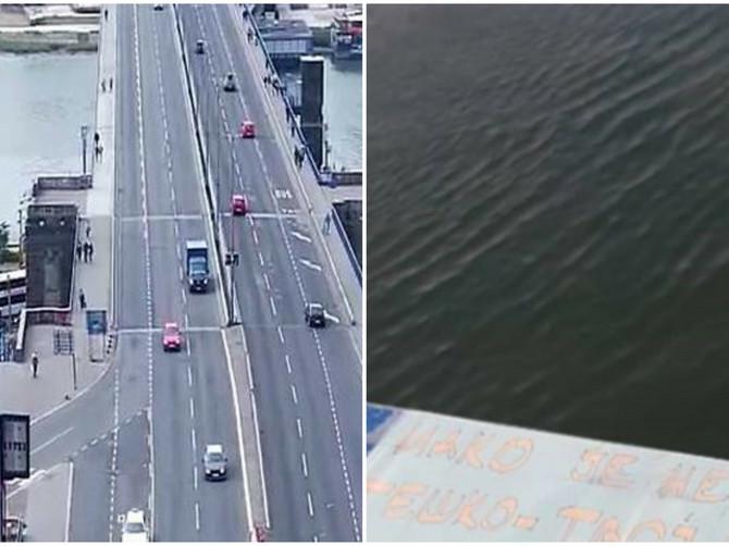 Na Brankovom mostu osvanula je POSEBNA PORUKA o kojoj bruji ceo grad: Evo ŠTA piše u njoj