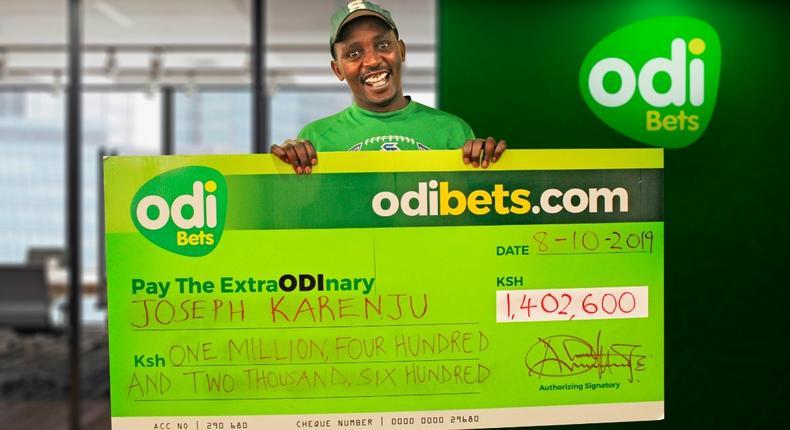 A winner on Odibets