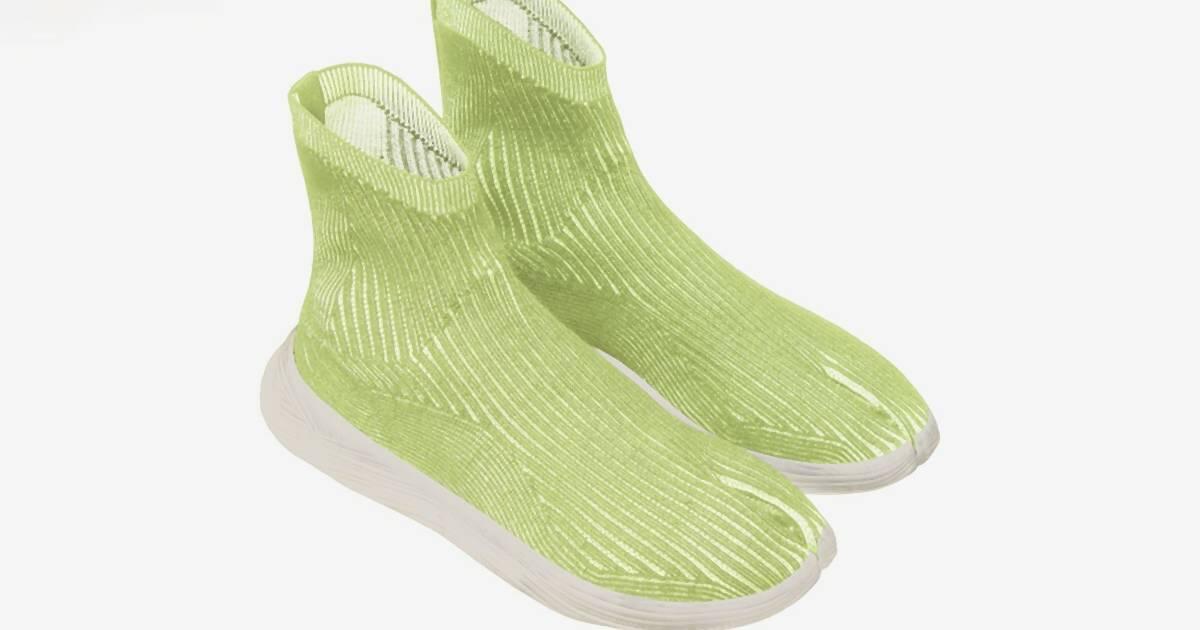 Dieser Tabi Sneaker besteht aus recycelten PET-Flaschen – und ist komplett vegan
