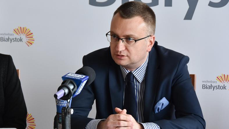 Wiceprezydent Rafał Rudnicki jest znany z kibicowania