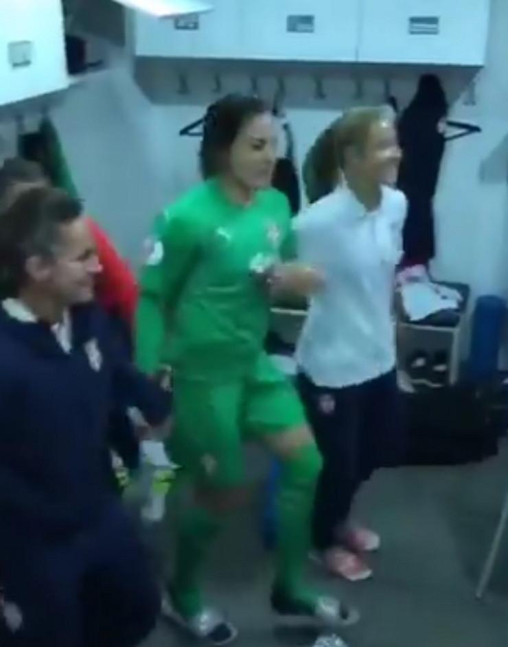 Proslava fudbalerki Srbije