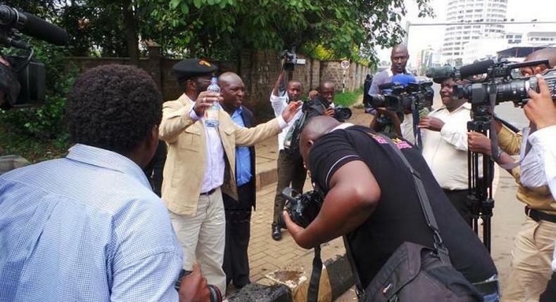 Kisumu Governor Anyang' Nyong'o chase car clamped after illegal parking at airport