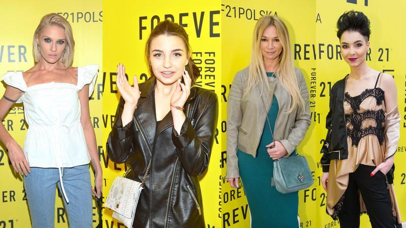 "Magda Samborska, Julia Wieniawa, Ewa Pacuła, Paulina Drażba na imprezie ""Forever 21"""