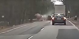 Śmierć na drodze. Szokujące nagranie z wypadku