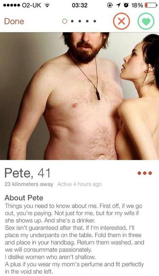 Dziwaczne profile randkowe