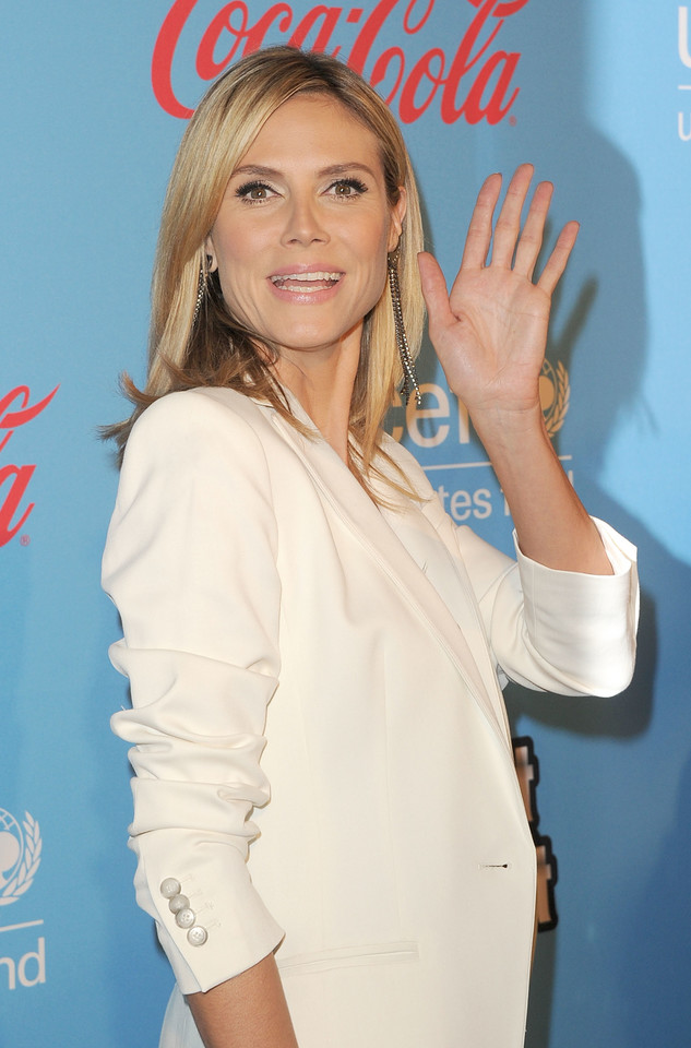 Heidi Klum na imprezie UNICEF (fot. Getty Images)