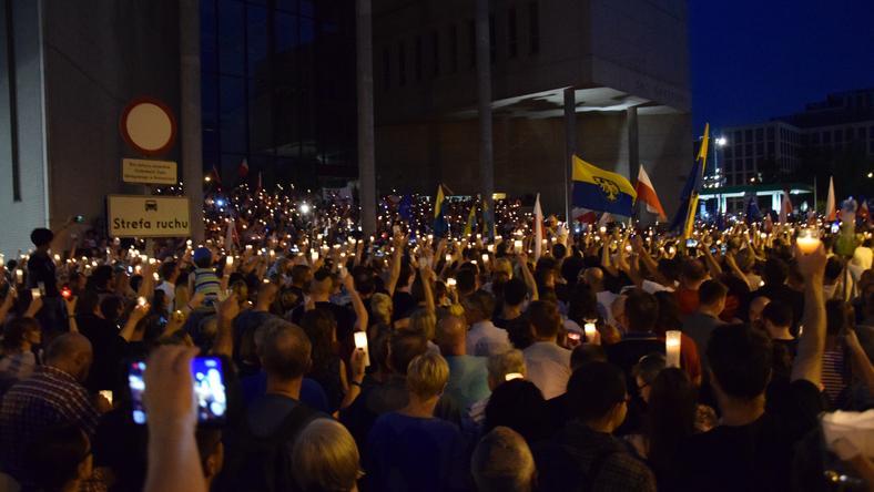 Łańcuch Światła w Katowicach 20 lipca b.r.