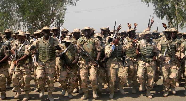 Nigerian Army troops.