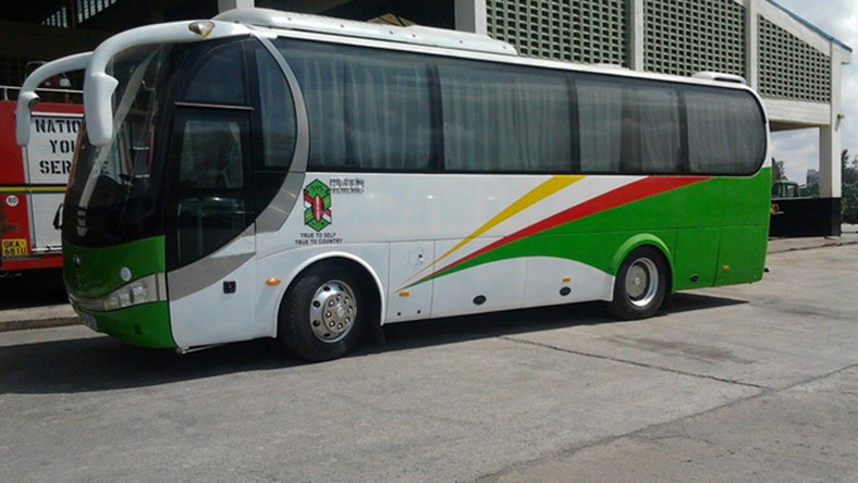 A NYS bus parked in Nairobi. (Pitstop Limited)
