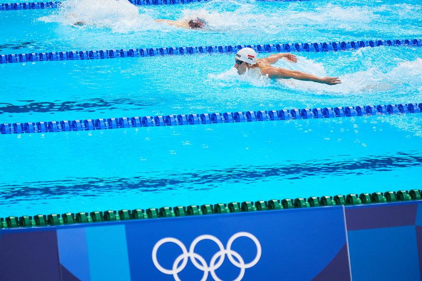 Nastolatek przełamał polską niemoc, bo zawodnika z naszego kraju na tym etapie pływackiej rywalizacji w igrzyskach nie było od dziewięciu lat.