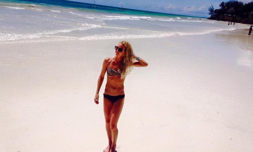 Radwańska w bikini! Gorący urlop w Kenii