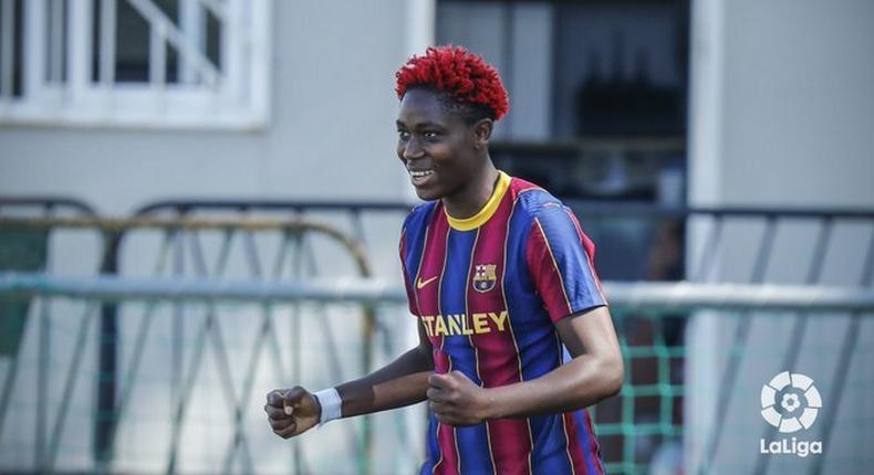 Asisat Oshoala was on the scoresheet for Barcelona  (Barcelona Femení)