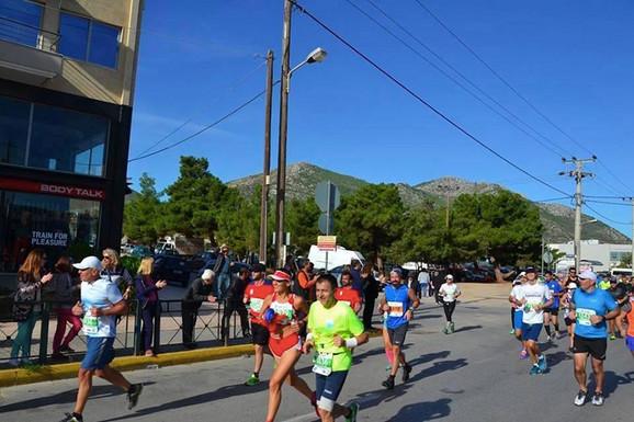 Tanja Grahovac na maratonu u Atini.