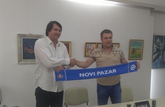 Nedeljko Jovanović i Husein Memić, član uprave Novog Pazara