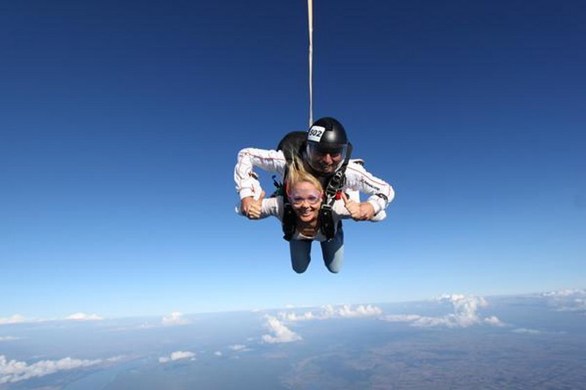 Anna Samusionek skok z samolotu