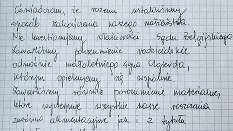 List, jaki napisała żona Jacka Kurskiego